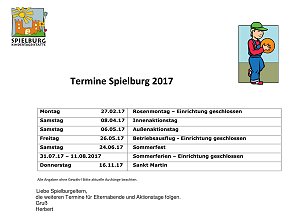 KiTa Spielburg Termine 2017-03